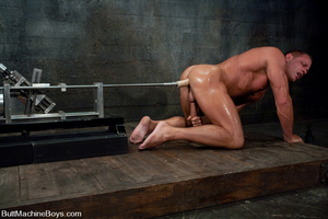 Gay dude plays with his cock as his tigh - XXX Dessert - Picture 14