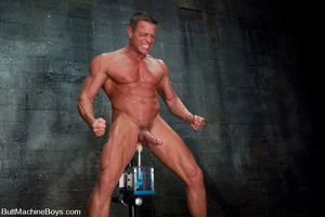 Gay dude plays with his cock as his tigh - XXX Dessert - Picture 15