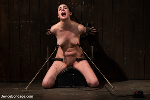Chick in sweet pain as she is pegged, bo - XXX Dessert - Picture 7
