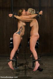 two seductive chicks chained