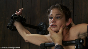 Cute big tits chick is chained and suspe - XXX Dessert - Picture 1