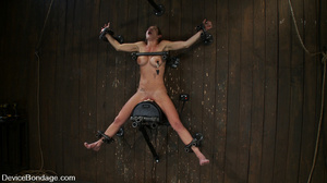 Cute big tits chick is chained and suspe - XXX Dessert - Picture 2