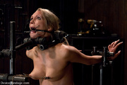 tattooed blonde painfully strapped