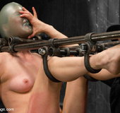 Cute girl painfully bound and suffocated with…