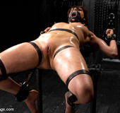 Pleasure and pain torture as girl gets bound,…