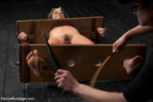 Damsel gets caged in wooden device on fl - XXX Dessert - Picture 12