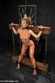 sweet nude blonde tied