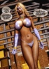 Busty blonde too chick getting mad from her lust