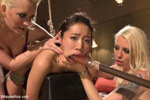 Blondes and friend tie up chick, dominat - XXX Dessert - Picture 4