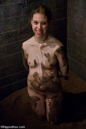 Nude girl buried with dirt, spanked, bou - XXX Dessert - Picture 15