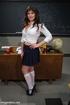 Blonde teacher spanks chick, tie her, make her…