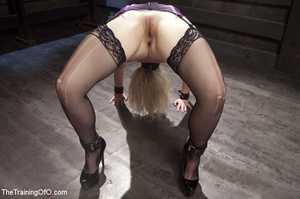 Sexy blonde slave made to suck and ride  - XXX Dessert - Picture 8