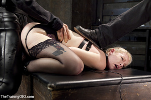 Sexy blonde slave made to suck and ride  - XXX Dessert - Picture 14