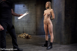 Cock sucking blonde used as slave by guy - XXX Dessert - Picture 1
