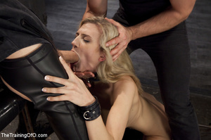 Cock sucking blonde used as slave by guy - XXX Dessert - Picture 7