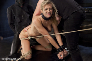 Cock sucking blonde used as slave by guy - XXX Dessert - Picture 12
