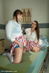 Cute maid using vibrator gets shemale maid to suck…