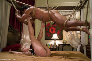 Ebony man gets gagged and bound by hot c - XXX Dessert - Picture 2