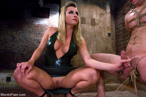 Busty blonde mistress in black late dres - XXX Dessert - Picture 2
