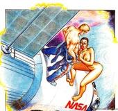 Busty ebony space women pleasing orally a space ship captain