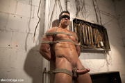 muscle guy get bound