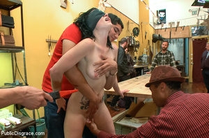 Tattoo babe ravaged by horny group as sh - XXX Dessert - Picture 13