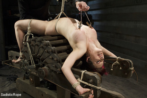 Guy ties cute chick to wooden cross, cli - XXX Dessert - Picture 6