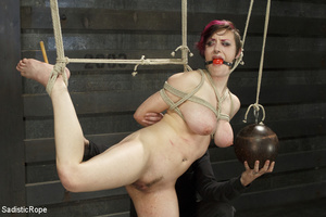 Guy ties cute chick to wooden cross, cli - XXX Dessert - Picture 11
