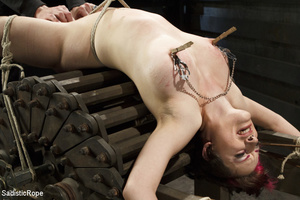 Guy ties cute chick to wooden cross, cli - XXX Dessert - Picture 13