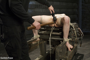 Guy ties cute chick to wooden cross, cli - XXX Dessert - Picture 15