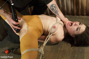 Guy ties girl's hands, feet and tits, wh - XXX Dessert - Picture 15