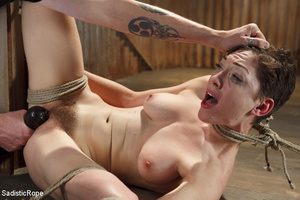 Young babe gets stripped, roped and hung - XXX Dessert - Picture 6