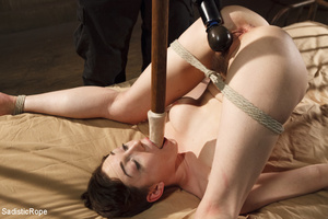 Young babe gets stripped, roped and hung - XXX Dessert - Picture 9