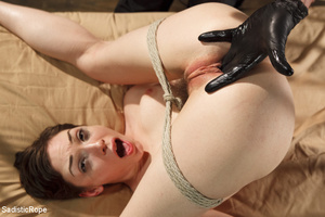 Young babe gets stripped, roped and hung - XXX Dessert - Picture 10