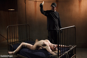 Guy in black ties blonde with rope, susp - XXX Dessert - Picture 12