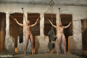 Sadistic guy binds two cute girls, hangs - XXX Dessert - Picture 3