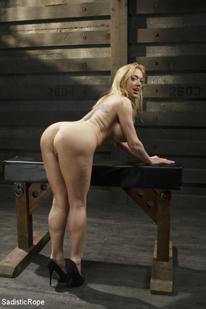 Hot blonde gets roped with her big tits  - XXX Dessert - Picture 2