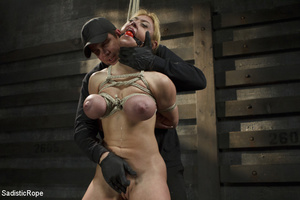 Hot blonde gets roped with her big tits  - XXX Dessert - Picture 3