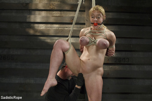 Hot blonde gets roped with her big tits  - XXX Dessert - Picture 4