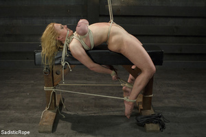 Hot blonde gets roped with her big tits  - XXX Dessert - Picture 10