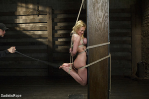 Hot blonde gets roped with her big tits  - XXX Dessert - Picture 13