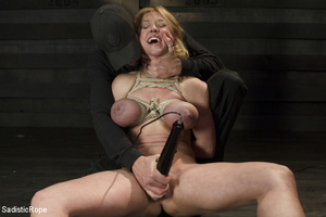 Hot blonde gets roped with her big tits  - XXX Dessert - Picture 14
