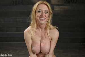 Hot blonde gets roped with her big tits  - XXX Dessert - Picture 15