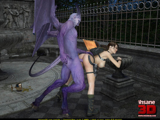 Purple demon with horns, tail and wings - Cartoon Sex - Picture 4