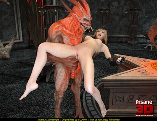 horny demon released cage
