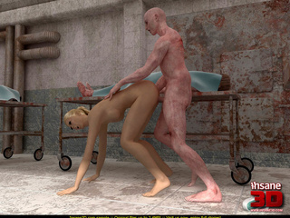 Naked dead body strikes a ponytailed blonde - Cartoon Sex - Picture 3
