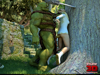 Huge muscular green 3D monster with a sword - Cartoon Sex - Picture 2