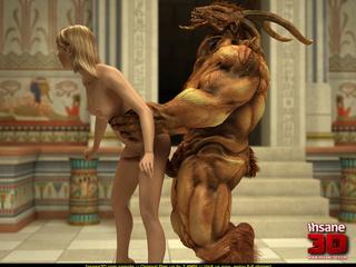 Bodacious Egyptian goddess watching a huge - Cartoon Sex - Picture 3