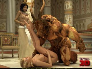 Bodacious Egyptian goddess watching a huge - Cartoon Sex - Picture 4