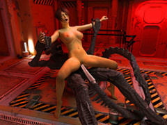 One of the alien intruders with a long tail - Cartoon Sex - Picture 4